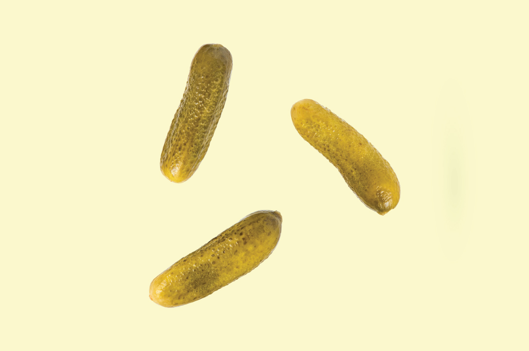 Three pickles.